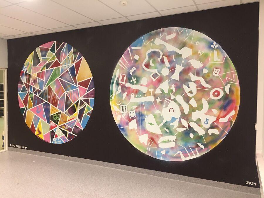 Grafitti laga av kulturskuleelevar
